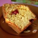 Cake aux fraises séchées