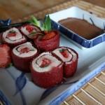 Sushi cuir fraise